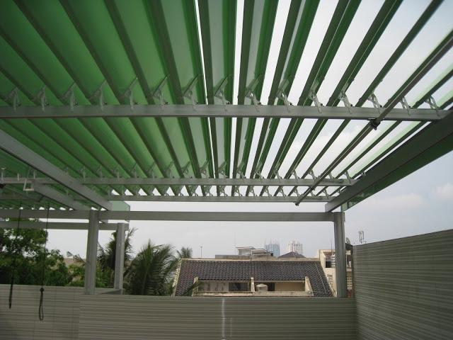 Atap buka tutup aluminium 082134741879 WA/CALL