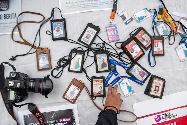 Ratusan Jurnalis di Palembang Kecam Kekerasan Terhadap Jurnalis