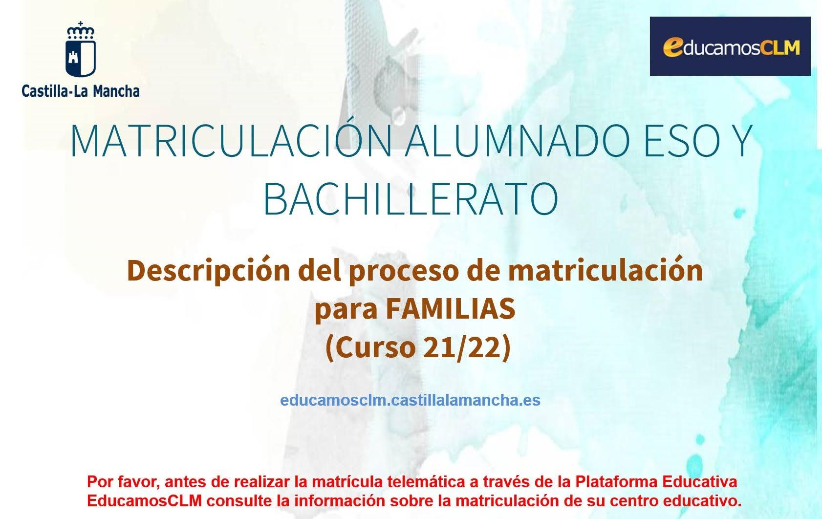 Guía de matriculación para familias curso 2021/2022