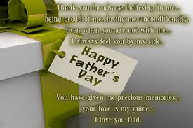 Happy Father's day wishes for father: thank you for always believing in me