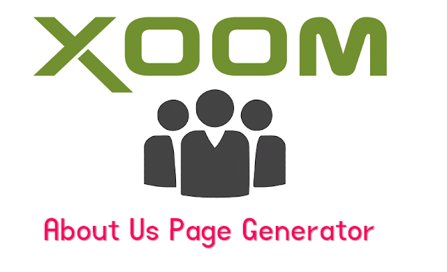 About Us Page Generator For Blogger