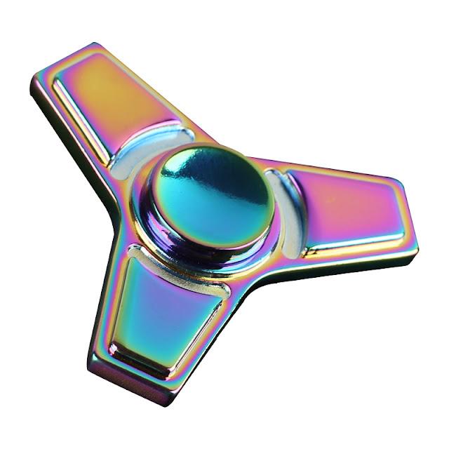 Fidget spinner metalowy trójkąt tęczowy