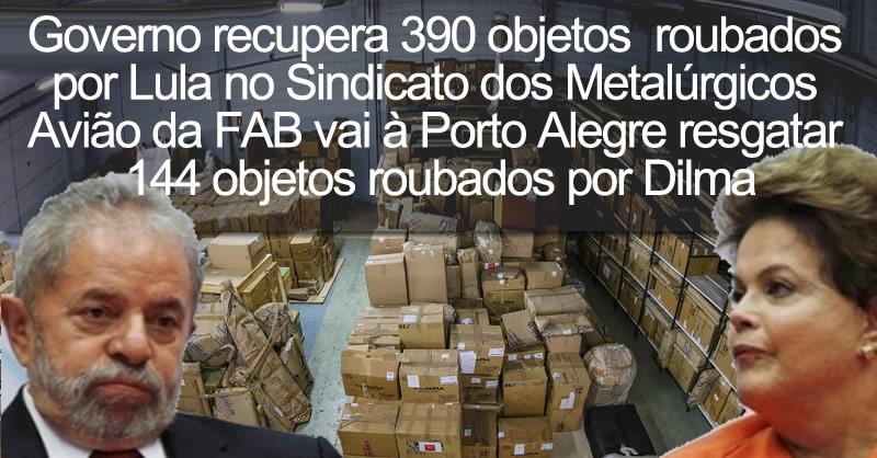 Resultado de imagem para Governo DESCOBRE 390 Peças roubadas por Lula e Dilma NO SINDICATO