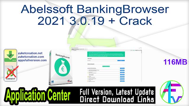 Abelssoft BankingBrowser 2021 3.0.19 + Crack