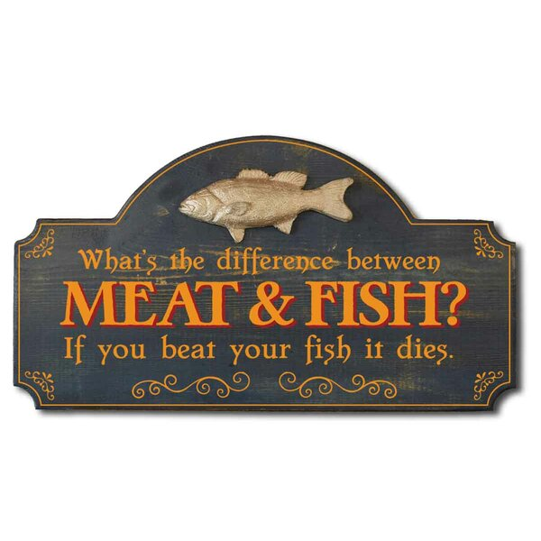 Meat & Fish Ragtime Sign Wall Décor
