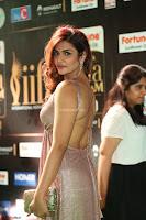 Telugu Actress Aarthi in Deep Neck Backless Golden Gown at IIFA Utsavam Awards 2017 Exclusive 04.JPG