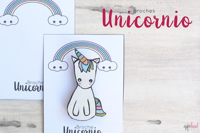 Hecho a mano: Broche unicornio.