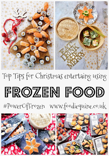 www.foodiequine.co.uk Top Tips for Christmas entertaining with Frozen Food. A festive soiree with Luxury Food & Platters combined with hints and tips for using frozen food to make your festive entertaining easier. This Christmas let Iceland and the #PowerOfFrozen take the strain and help give you the best gift you can have: time with family and friends.