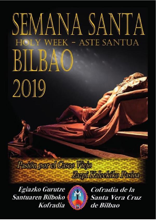 Horarios e Itinerarios de la Semana Santa Bilbao 2019: Programa de Mano Cofradía Santa Vera Cruz