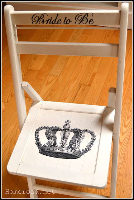 white chair for bride to be