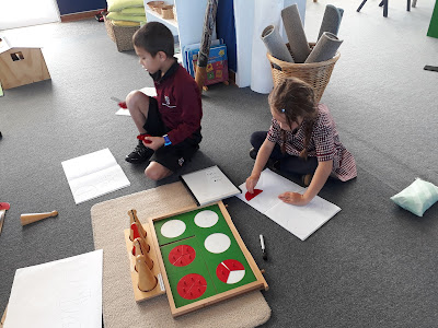 Identifying and labelling fractions