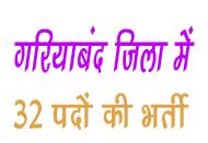 gariyaband jila vacancy गरियाबंद जिला में निकली भर्ती