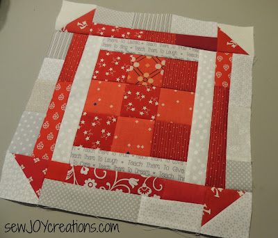 scrappy 9 churn dash block pieced block tutorial