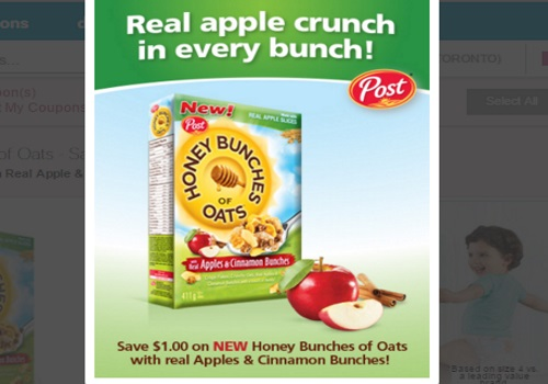 Honey Bunches of Oats Apple & Cinnamon Coupon