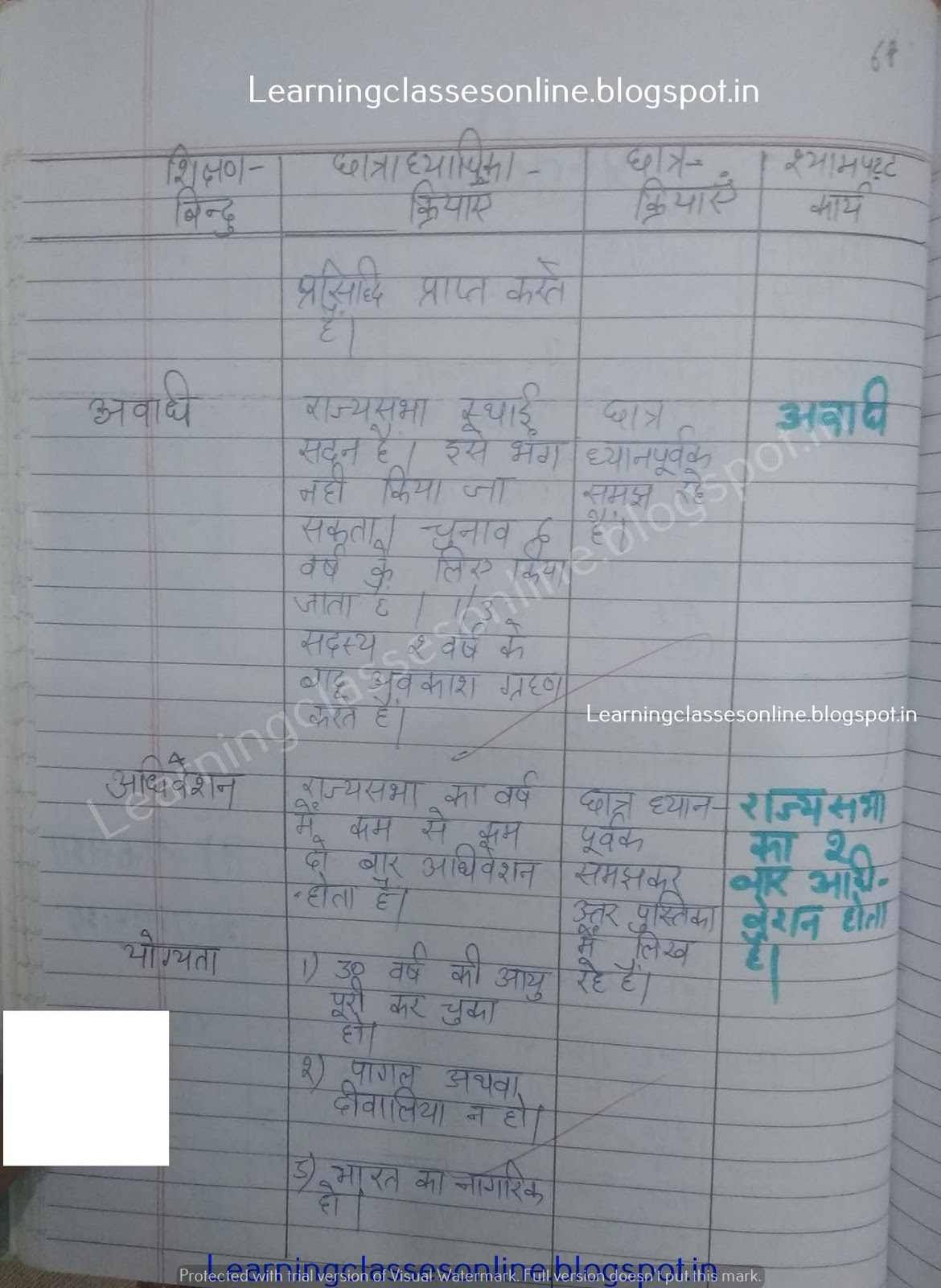 lesson plan for class 10 social science cbse,