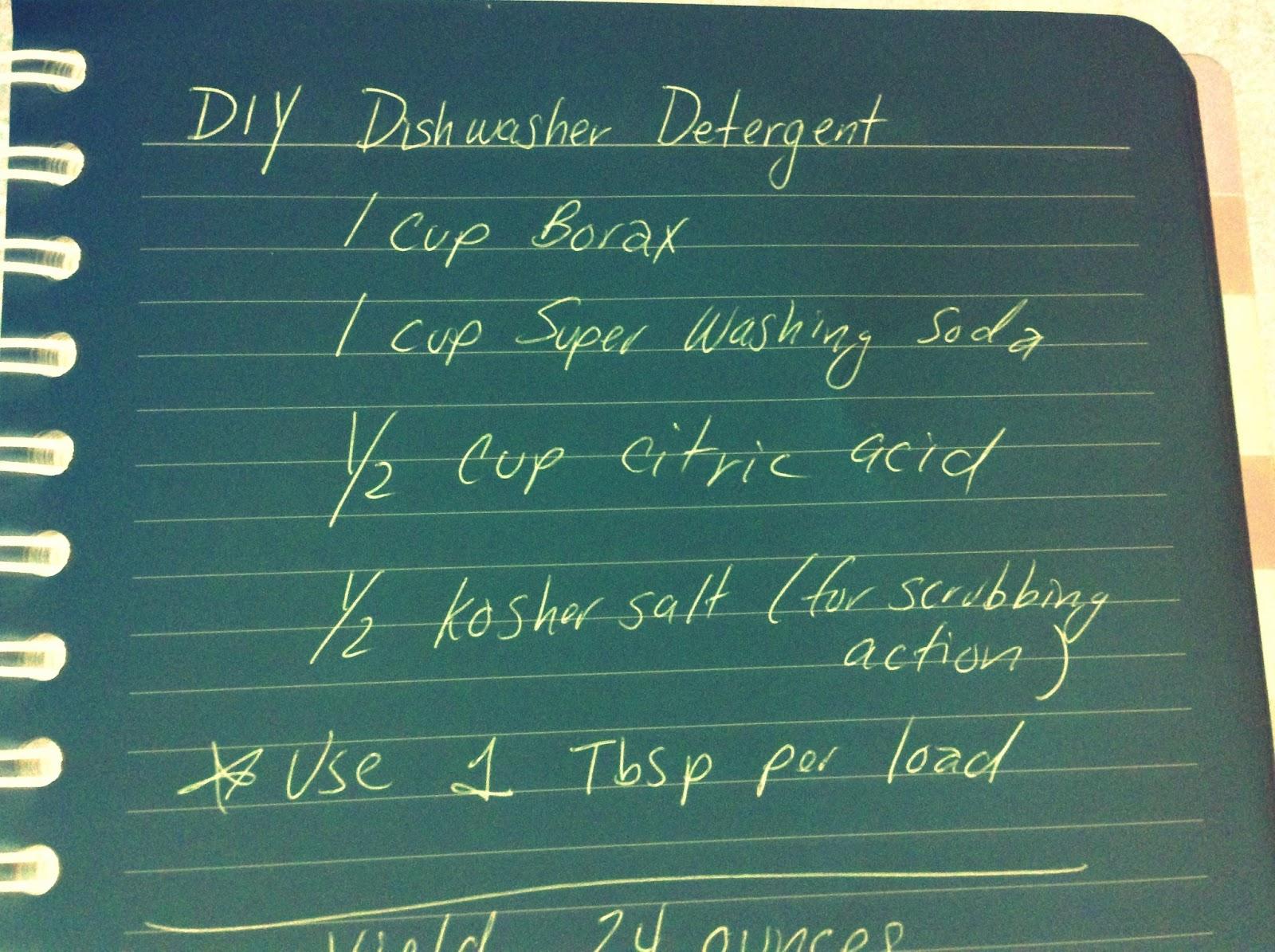 Learning Curve: DIY Dishwashing Detergent