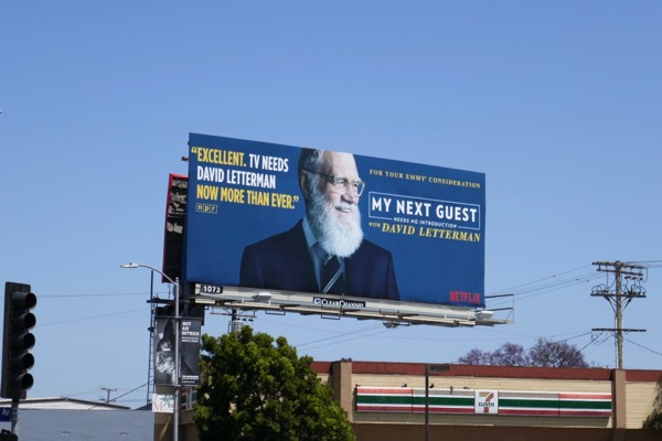 My Next Guest David Letterman season 1 Emmy FYC billboard
