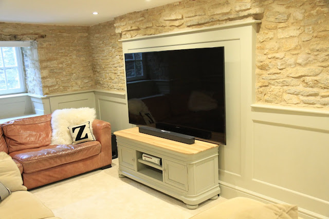 A Large Television In A Period Home