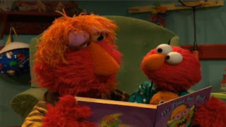 Louie reads Elmo his favorite book, It's Time for Bed. Sesame Street Bedtime with Elmo