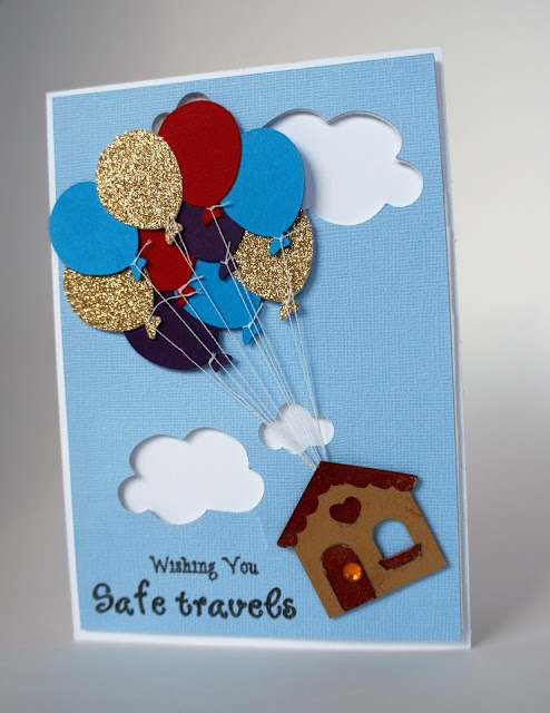 cut n' edge crafts going away card  up style