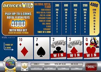 Video Poker Deuces Wild (doses comodín)