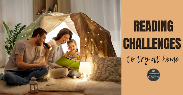 I think we can all agree that reading to and with our children is one of the best ways to help them grow as readers. But you don't have to read the same way each day. Here are a few fun reading challenges to try at home.