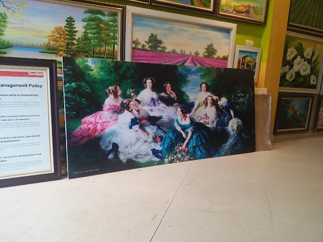Mẫu tranh canvas khổ lớn