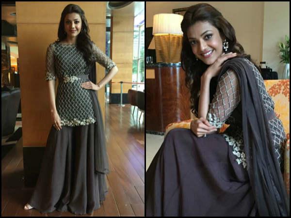 kajal in black dress