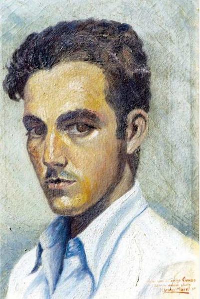 Autorretrato dedicado al amigo Cundo, Yoryi Morel, 1938