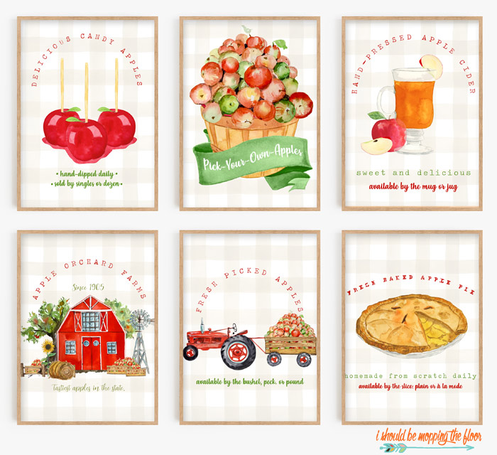 Six Fall Apple Orchard Printables