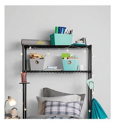 Bed Steel Storage Organizer Dorm Space Saver Adjustable