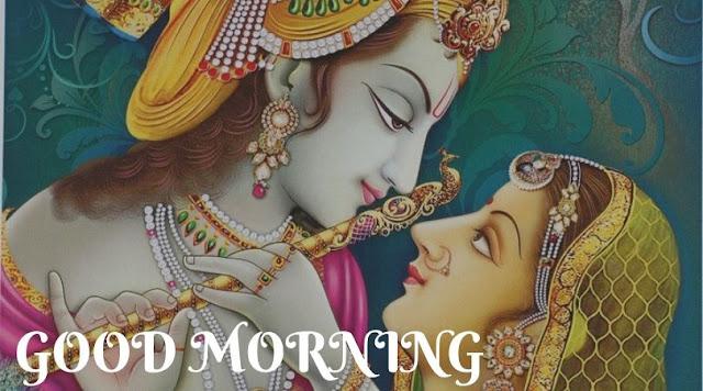 good morning images for radha krishna