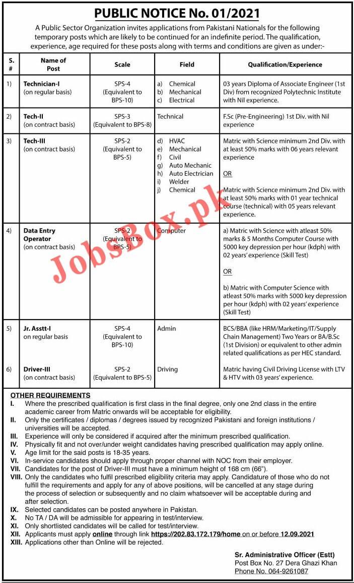 Latest Jobs in Pakistan 2021 - Today 22 August 2021 New Jobs