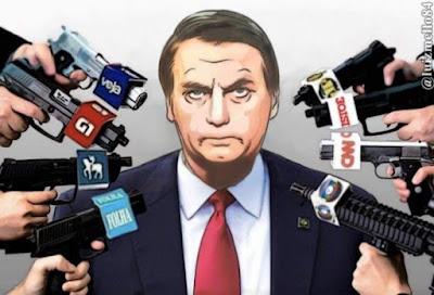 """Por que a grande imprensa quer """"estourar os miolos"""" de  Bolsonaro?"""
