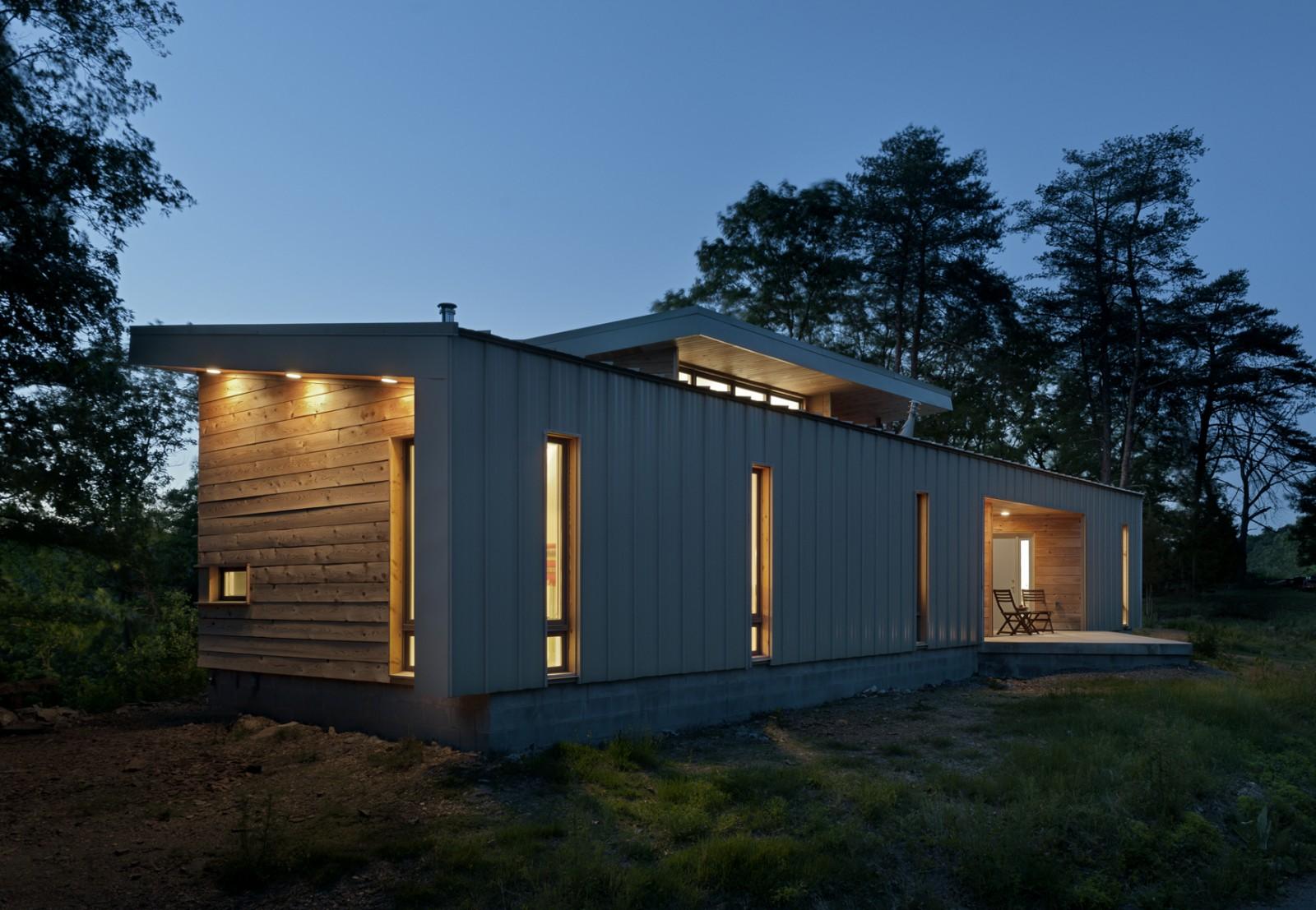 Desain Rumah Kayu Minimalis Satu Lantai - Ridge house -