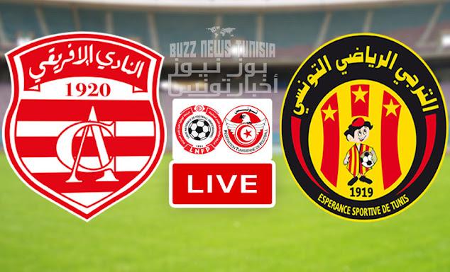 Match Derby Club Africain vs Esperance Sportive De Tunis  Live Streaming