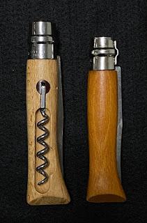 オピネルのコークスクリューナイフとNo.9の比較