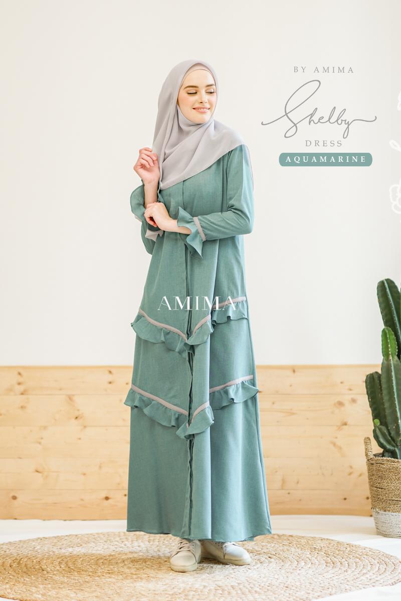 Trend baju lebaran terbaru Gamis Shleby Dress