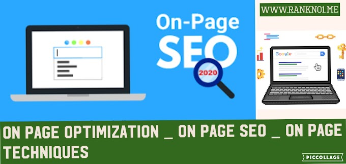 On-page SEO Rank in Google 2020 rankno1
