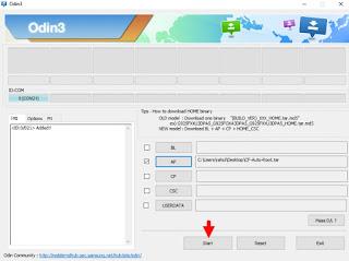 Start Odin3.07 Flash Samsung Galaxy