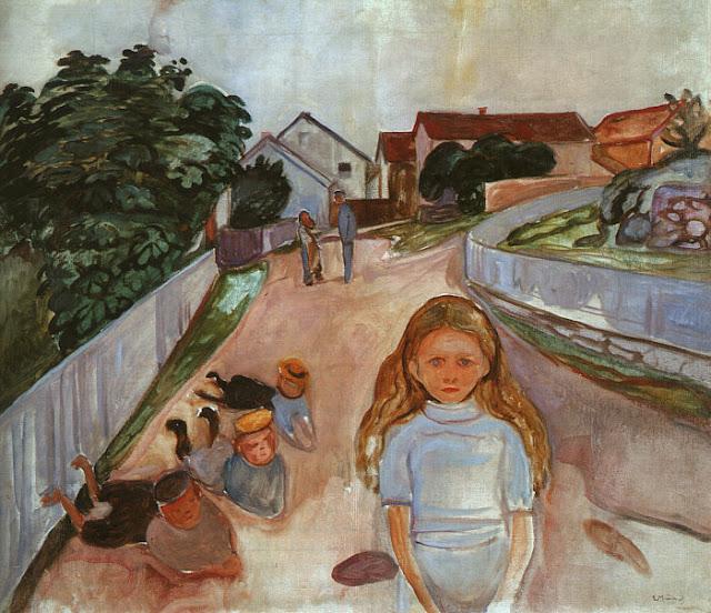 Эдвард Мунк - Улица в Арсгардстранде. 1902