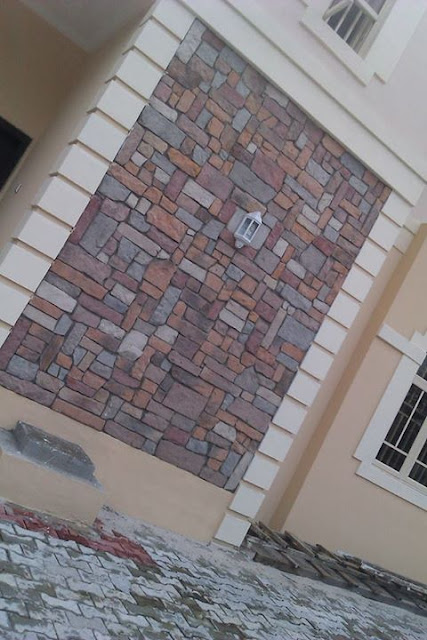 Coble stone decoration at old gra portharcourt Nigeria