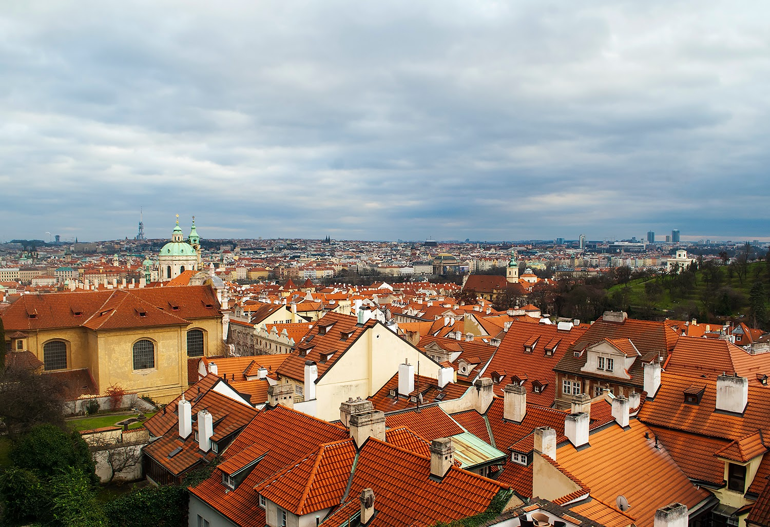 Panoramic Views of Prague, Czech Republic