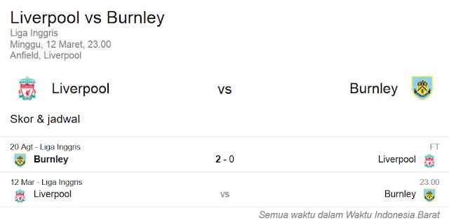 Prediksi Skor Liverpool vs Burnley | Polisibola.com