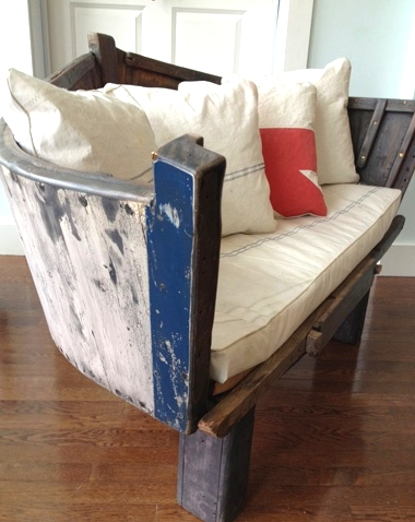 repurposed boat chair from stern