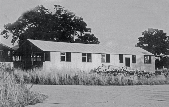 Brookmans Park URC May 1948 - the hut was bought from RAF Coltishall Photograph courtesy of the URC, part of the Images of North Mymms collection