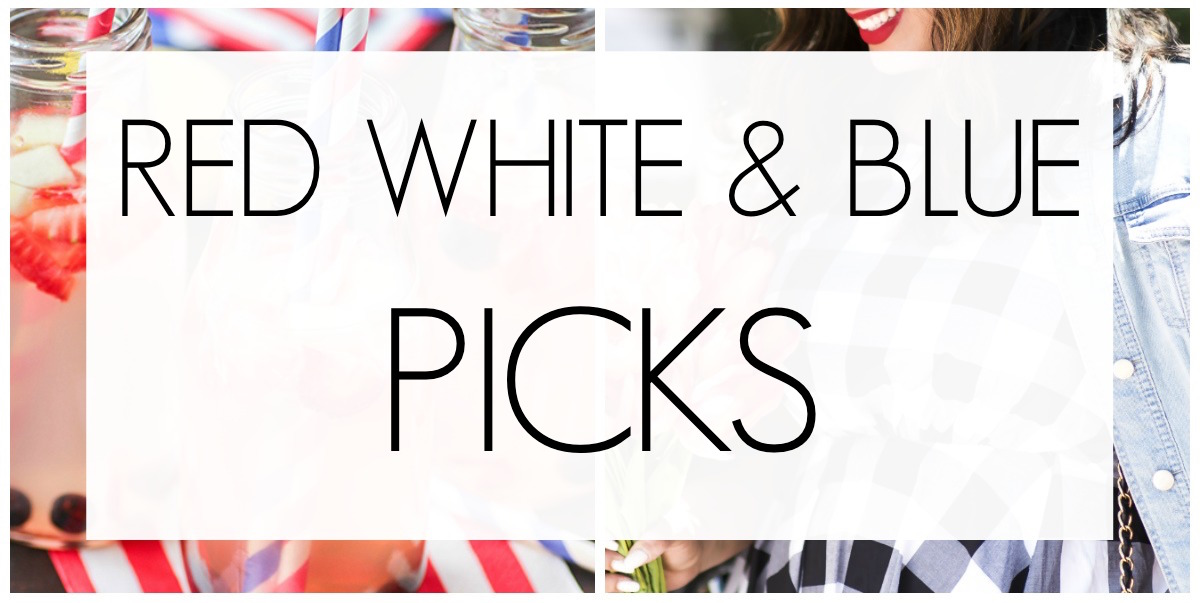 RED WHITE BLUE FASHION PICKS