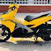 Sơn xe Air Blade màu vàng mâm đen cực đẹp