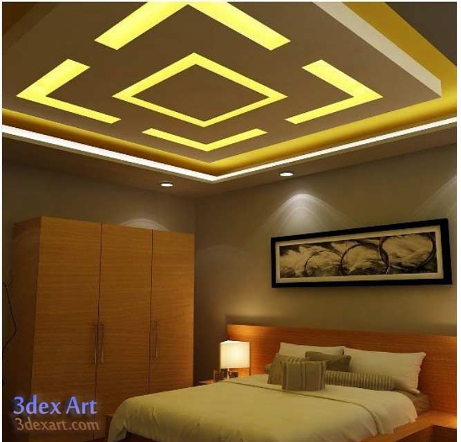 New false ceiling designs ideas for bedroom 2018 with led for Bedroom designs light