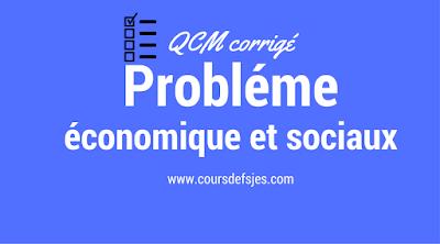 qcm probléme economique et sociaux